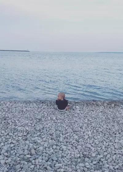 Jackson Roloff on the Beach
