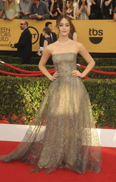 Emmy Rossum at the SAG Awards