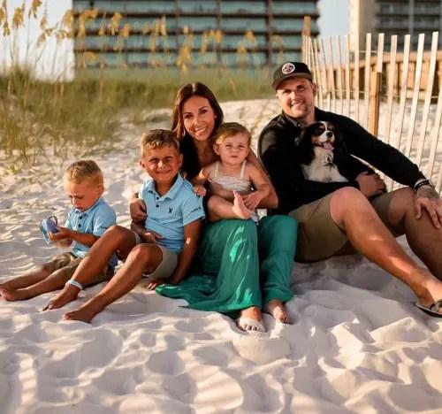 Mackenzie With Kids, Ryan With Dog