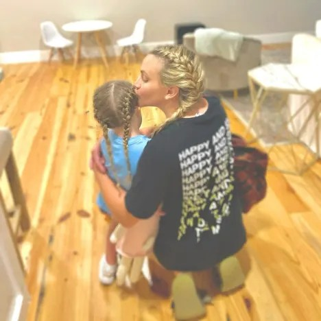 Jamie Lynn Spears and Ivey Watson with Braided Hair