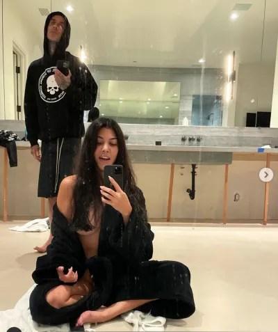Kourtney Kardashian Is Topless
