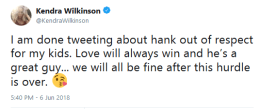 Kendra Wilkinson apology tweet