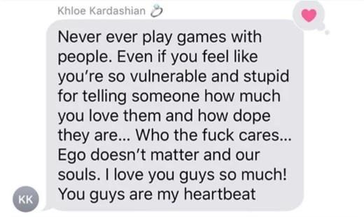 Khloe Text