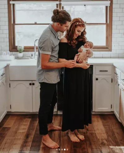 Jeremy with Audrey and Ember, Barefoot in the Kitchen