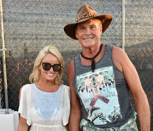 Hayley Roberts and David Hasselhoff Photo