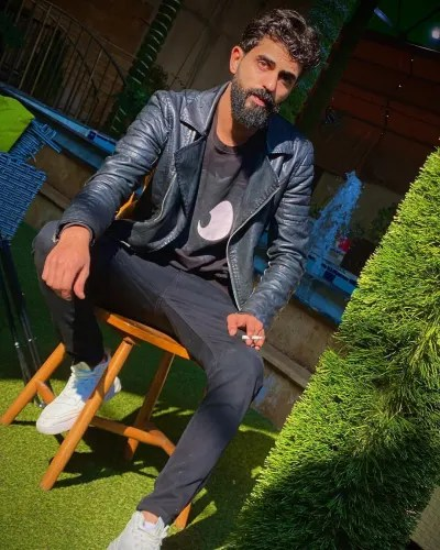 Yazan Abo Horira With a Cigarette