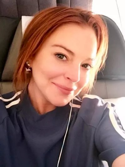 Lindsay Lohan on a Plane