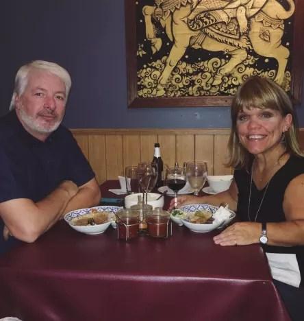 Amy Roloff and Chris Marek Eat Thai