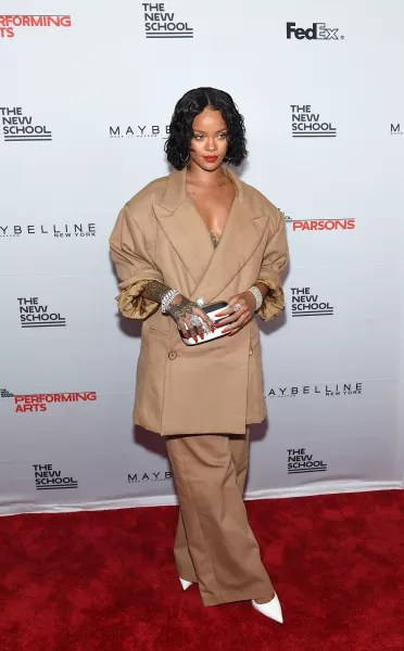 Rihanna Rocking Baggy Clothes