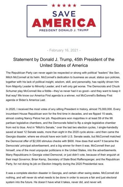 Donald Trump vs. mitch
