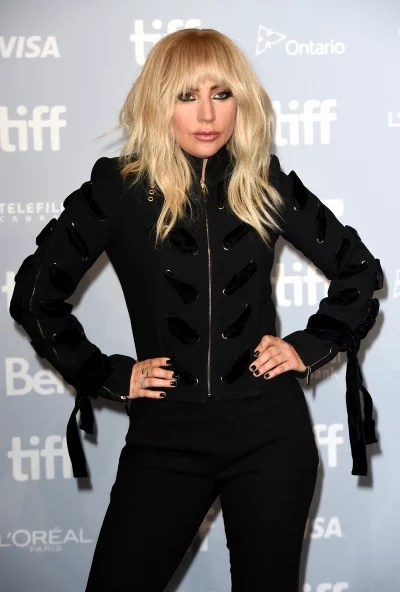 Lady Gaga in Black with Tassels