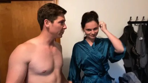 "Brandon Gibbs and Julia Trubkina ready for bath tub ""spa day"""