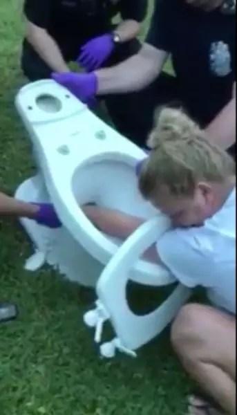 toilet hand
