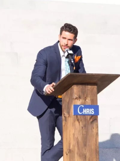 Chris Makes a Speech