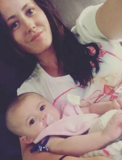 Jenelle Evans and Little Ensley Jolie