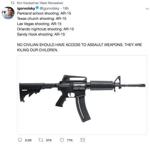 gun retweet