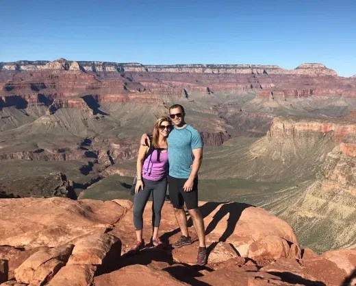 Jon Francetic and Dr. Jessica Griffin at the Grand Canyon