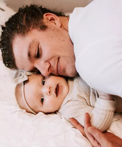 A Snuggle from Dad