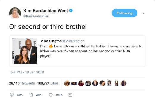 Kim Kardashian Lamar Odom Tweet