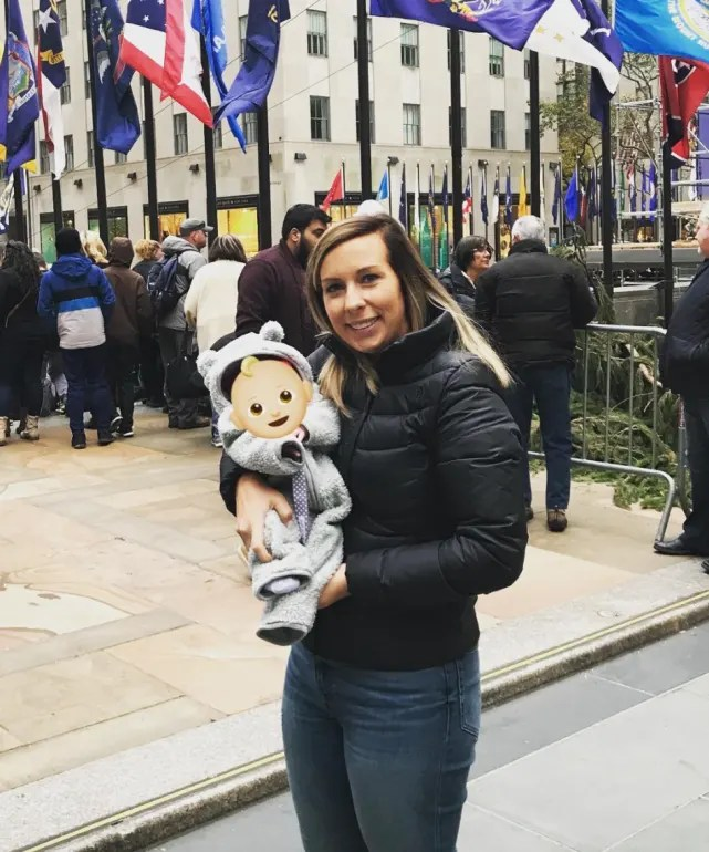 Mackenzie standifer with baby