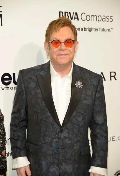Elton john has red shades