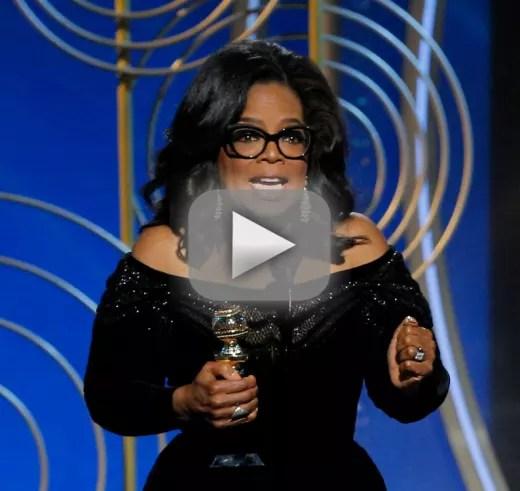 Oprah winfrey delivers the golden globes speech everyone is talk
