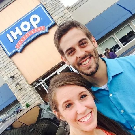 Jill Duggar and Derick Dillard at IHOP