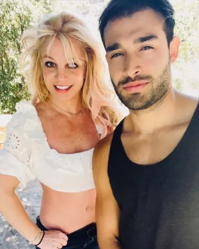 Britney Spears and Sam Asghari in August 2021