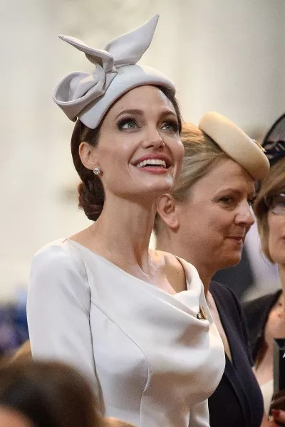 Angelina Jolie with a Hat
