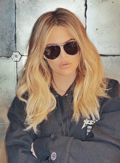 Khloe Kardashian with Sunglasses
