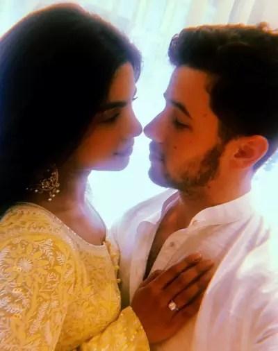 Priyanka Chopra and Nick Jonas Engagement Pic