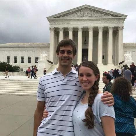 Derick Dillard and Jill Duggar in DC