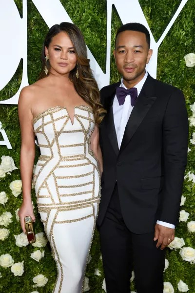 Chrissy Teigen and John Legend at the Tonys