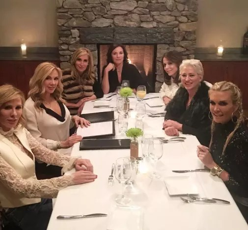 The Real Housewives of New York Pose Before Fine Dining