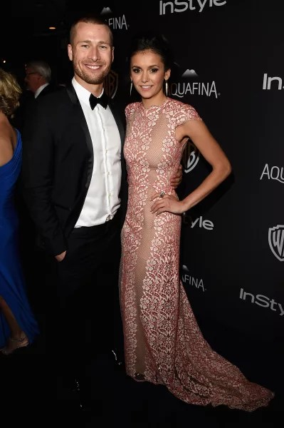 Glen Powell and Nina Dobrev