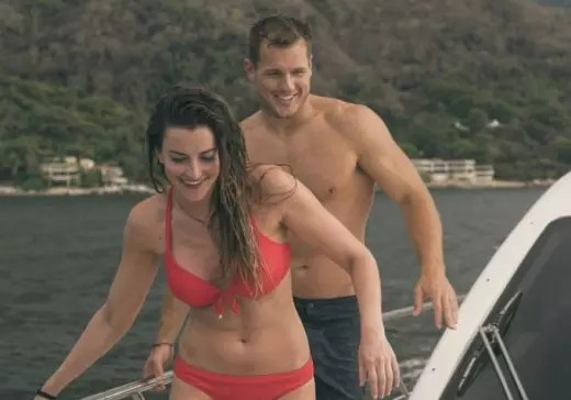Colton Underwood with Tia Booth