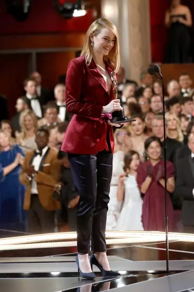 Emma Stone Smiles as Oscars Presenter
