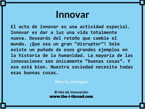 Innovar. Una metáfora