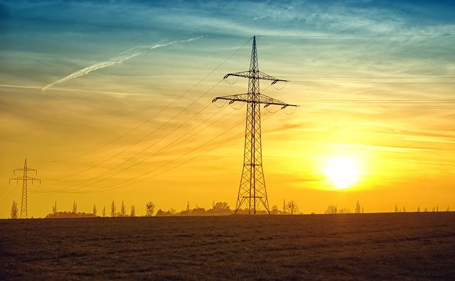 Evening Sun Evening Twilight Power Lines Sun