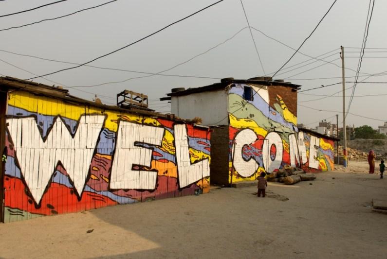 Bainsighat slum in Kathmandu, Nepal. © Outsiders Krew