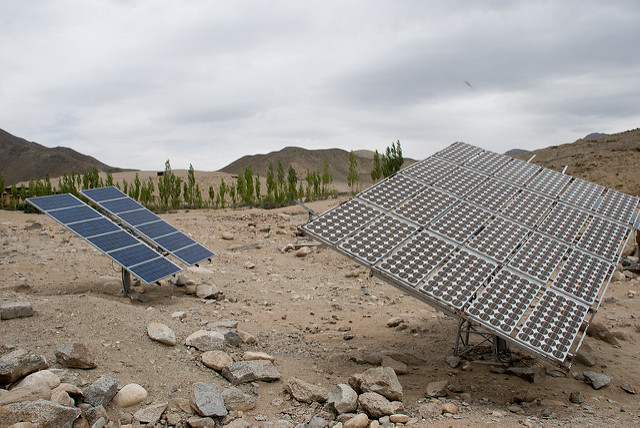 Solar panels refugee camp INKLINE