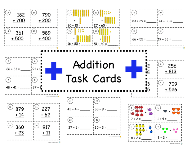 Addition Task Cards: What, Why, and How