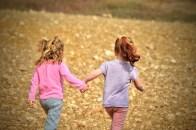 Children helping each other
