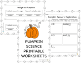 Science Pumpkin Activities preview