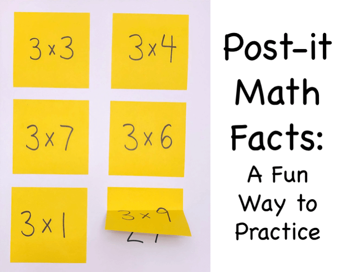 Post-It Math Facts: A Fun Way to Practice