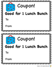 Lunch Bunch coupons example