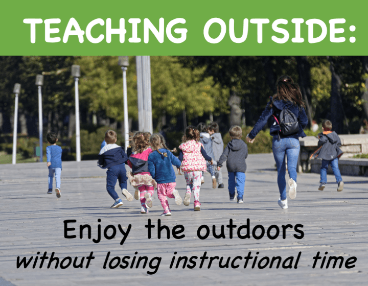 Teaching Outside: Enjoy the outdoors without losing instructional time