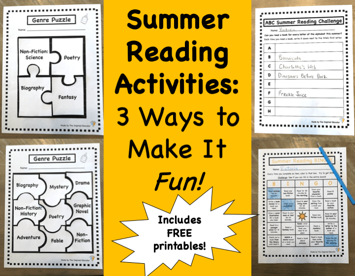 Summer Reading Activities: 3 Ways to Make It Fun!