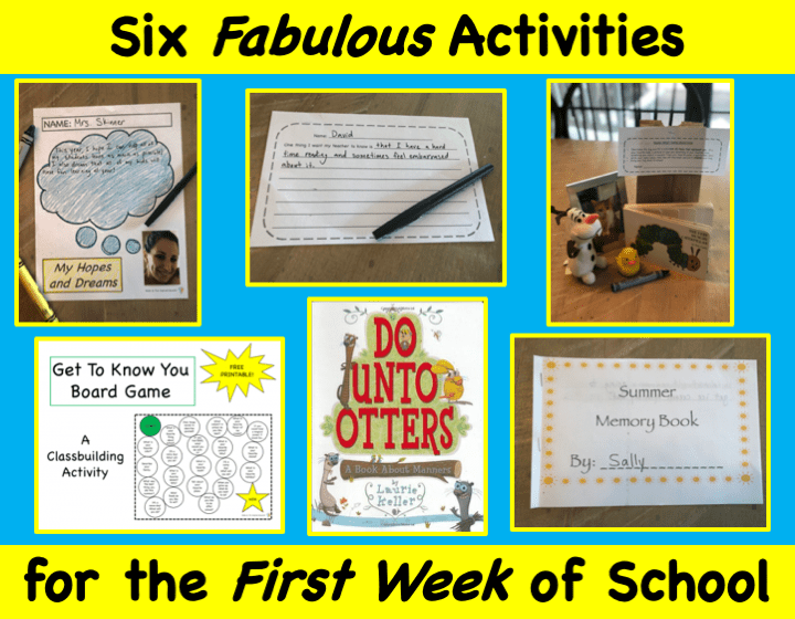 Six Fabulous Activities for the First Week of School