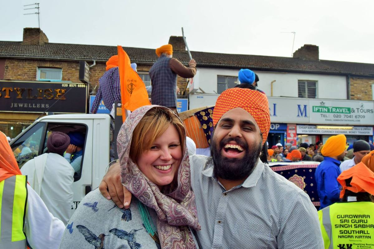 Nav hoeps to marry his girlfriend, Robyn, in a Gurudwara one day. [Image credit: Navjot Sawhney]